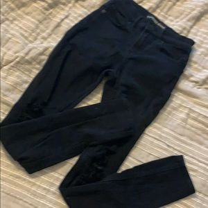 Black High-Waisted Express Jeans